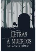 """Portada del libro """"Letras a muertos."""""""