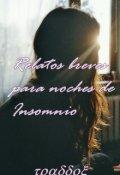 """Portada del libro """"Relatos breves para noches de Insomnio """""""