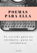 """Portada del libro """"Poemas para ella."""""""