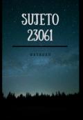 """Portada del libro """"Sujeto 23061"""""""