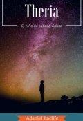 """Portada del libro """"Theria Volumen 0.0: El niño de cabello violeta"""""""