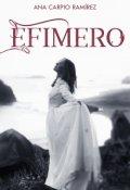 """Portada del libro """"Efímero"""""""