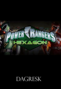 """Portada del libro """"Power Rangers Hexagon"""""""