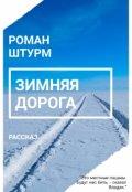 """Book cover """"Зимняя дорога"""""""