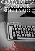 """Portada del libro """"Carta de un escritor solitario"""""""