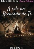 """Portada del libro """"A Sólo Un Recuerdo De Ti © Libro Dos de la Serie Olvido"""""""