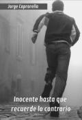 """Portada del libro """"Inocente hasta que recuerde lo contrario"""""""