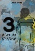 """Portada del libro """"Tres Días de Verano"""""""