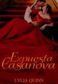 """Portada del libro """"Expuesta al Casanova"""""""