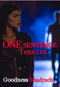 "Book cover ""One Sentence"""