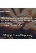 "Book cover ""Friendship day"""