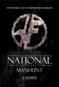 """Book cover """"National Emergency: Manhunt"""""""