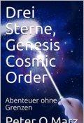 """Portada del libro """"Drei Sterne, Genesis Cosmic Order"""""""