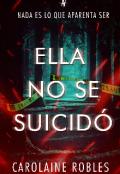 """Portada del libro """"Ella no se suicidó"""""""