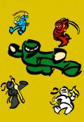"""Portada del libro """"Los Ninjas Elementales: El comienzo"""""""