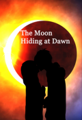 "Book cover ""The Moon Hiding at Dawn"""