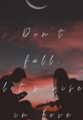 """Book cover """"Don't Fall, Let's Rise In Love"""""""