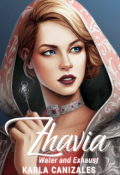 """Book cover """"Zhavia: Water and Exhaust"""""""