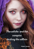 """Book cover """"The Witch and the Vampire ( destroy the villain)."""""""