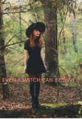 """Book cover """"Even a witch can be loved"""""""