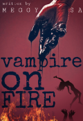 """Book cover """"Vampire on Fire"""""""