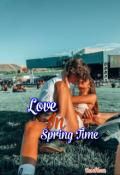 """Book cover """"Love in springtime """""""