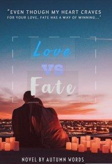 "Book cover ""Love Vs Fate"""