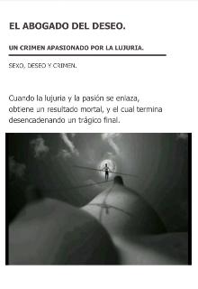 """Libro. """"El abogado del deseo"""" Leer online"""